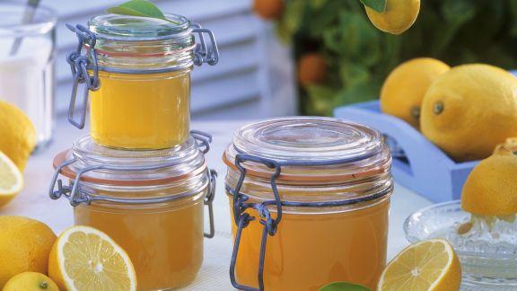 Rezept: Zitronenkonfitüre