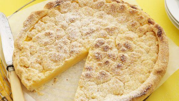 Rezept: Zitronentarte mit Streuseln