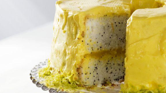 Rezept: Zitronentorte mit Mohn