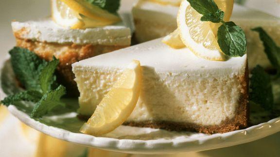 Rezept: Zitronige Käsetorte