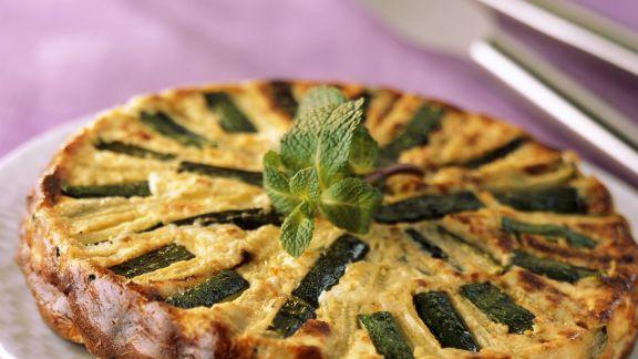 Rezept: Zucchini-Feta-Kuchen
