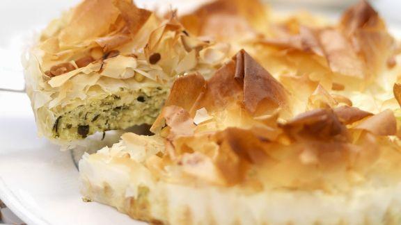 Rezept: Zucchini-Filoteig-Tarte