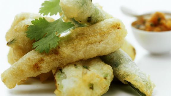 Rezept: Zucchini in Tempurateig