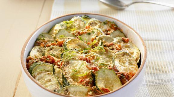 Rezept: Zucchini-Minz-Gratin