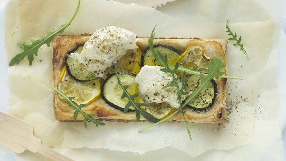 Rezept: Zucchini-Mozzarella-Tarte