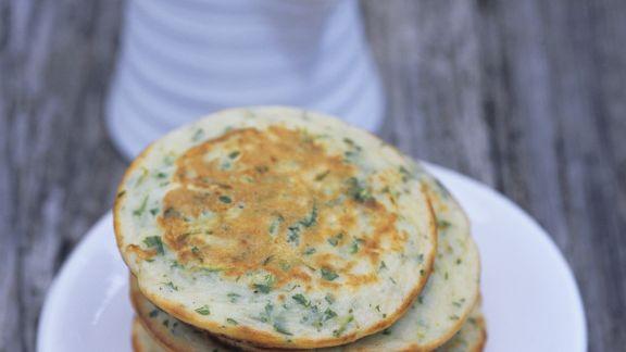 Rezept: Zucchini Pfannkuchen auf russische Art
