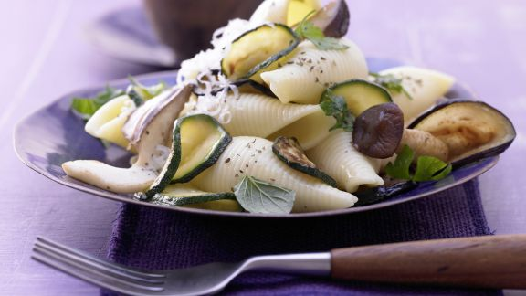 Rezept: Zucchini-Pilz-Pasta