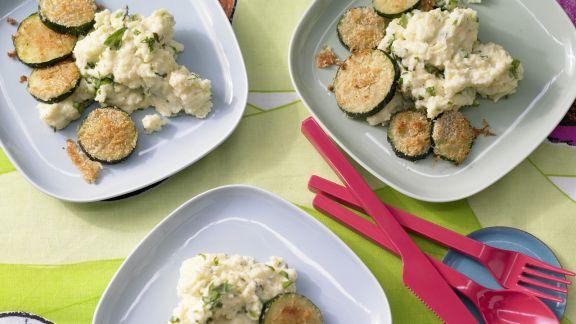 Rezept: Zucchini mit Polenta