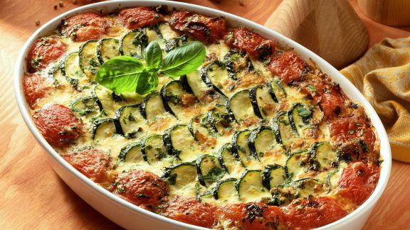 Rezept: Zucchini-Tomaten-Gratin