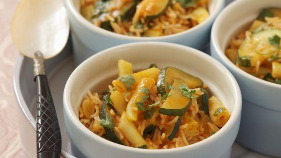 Rezept: Zucchini-Wachsbohnen-Curry mit Koriander