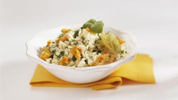 Rezept: Zucchiniblüten-Risotto