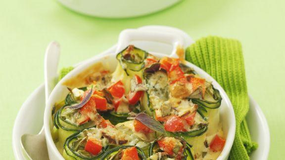 Rezept: Zucchinirouladen mit Käse
