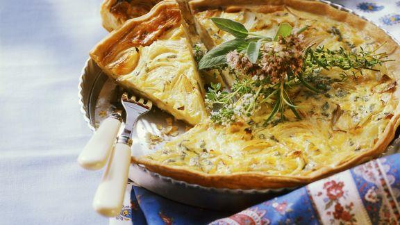 Rezept: Zwiebel-Käse-Tarte