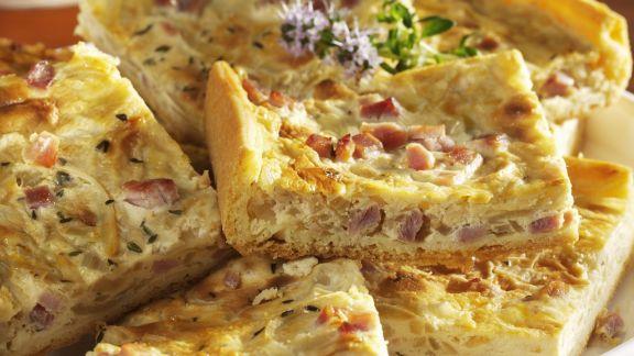 Rezept: Zwiebel-Speck-Kuchen