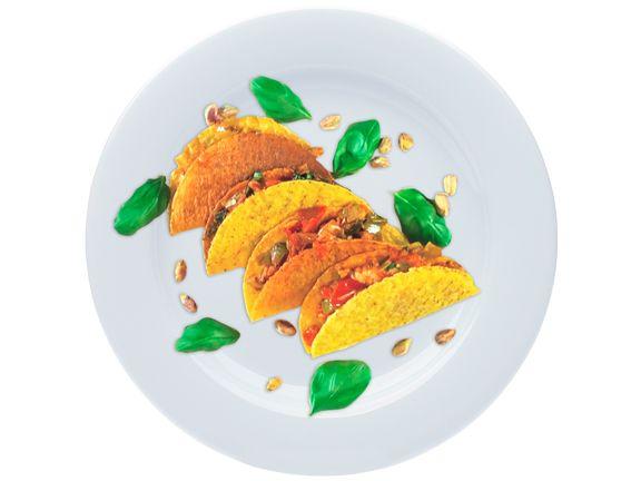 Tacos mit Pute, Lauch und Pistazien