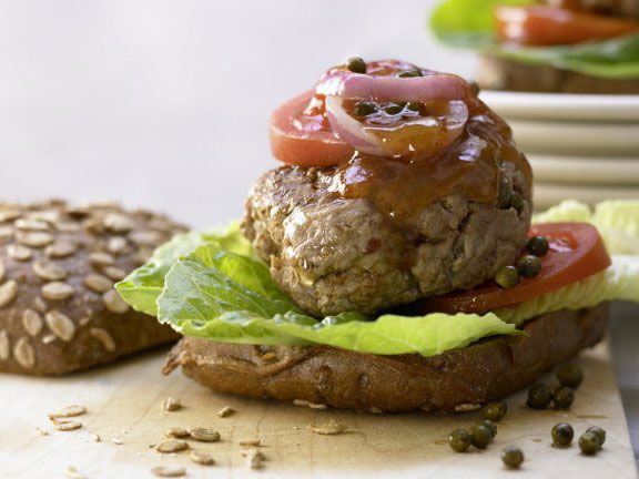 Würzige Beefhack-Burger