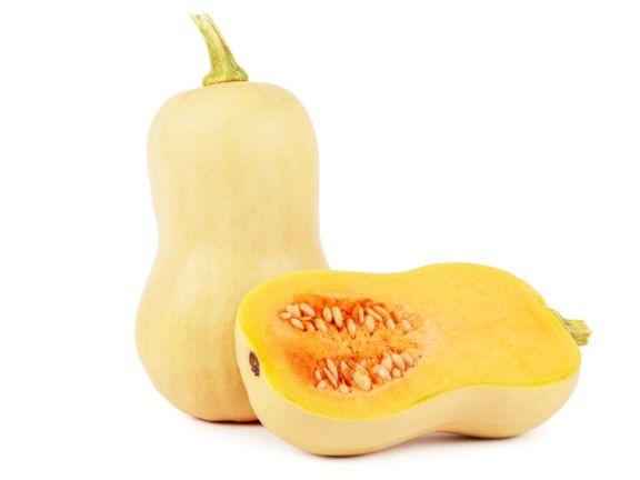 Der Butternut-Kürbis ist ein beliebter Speisekürbis.