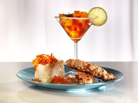 Chick-Cocktail-Party mit frittierten Barbados
