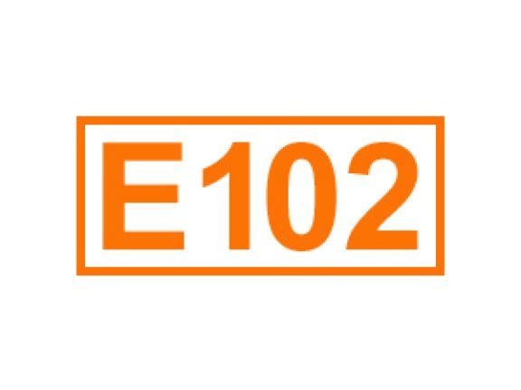 E 102 ein Farbstoff