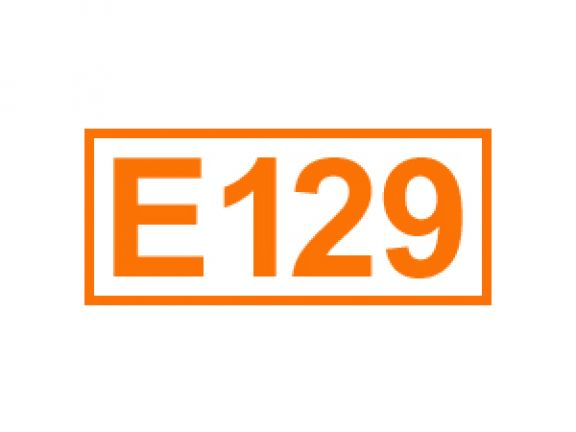 E 129 ein Farbstoff