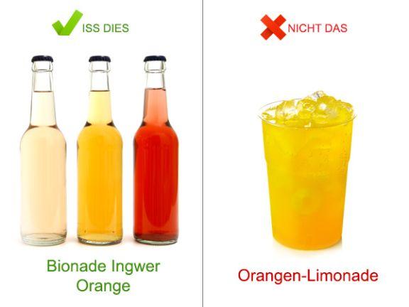 Trink dies, nicht das: Kalte Getränke