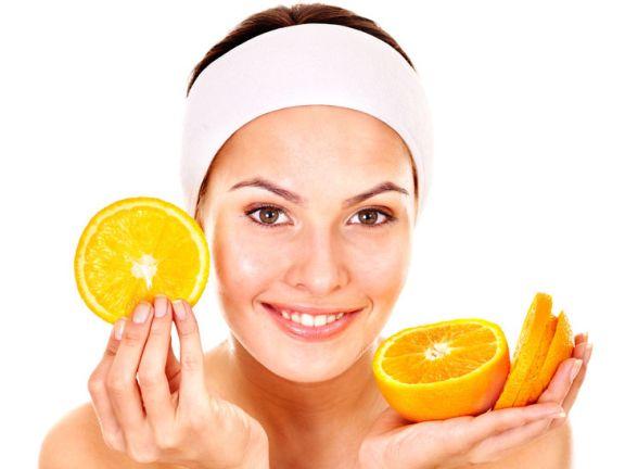 Orangen-Gesichtsmaske