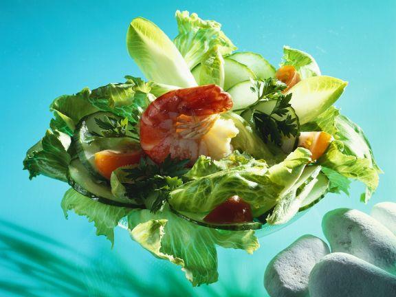 gemischter salat mit garnelen rezept eat smarter. Black Bedroom Furniture Sets. Home Design Ideas