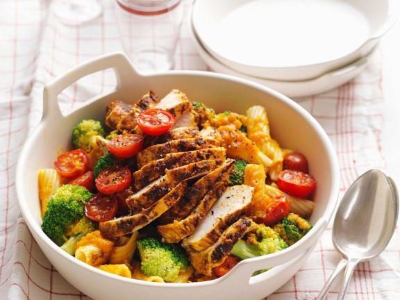 gem se pasta mit w rzigem h hnchen rezept eat smarter. Black Bedroom Furniture Sets. Home Design Ideas