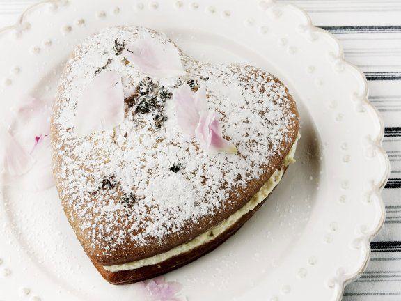 Herzkuchen mit Vanillefüllung