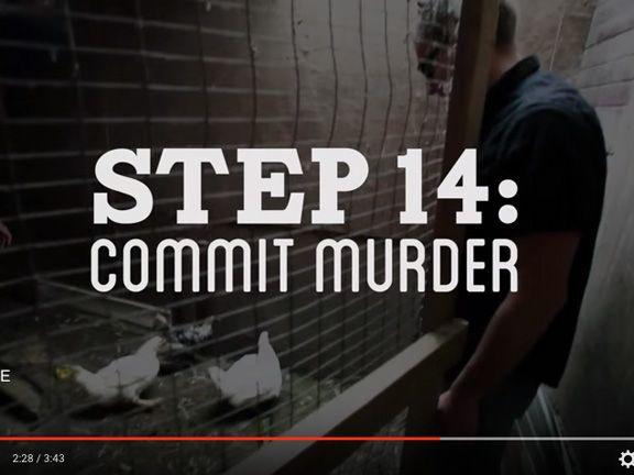 Youtube-Still von How to make Everything - Huhn schlachten