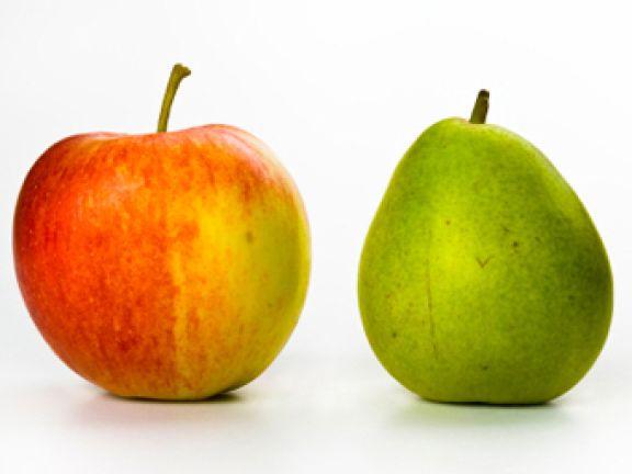 Sollte man Äpfel und Birnen zusammen lagern?