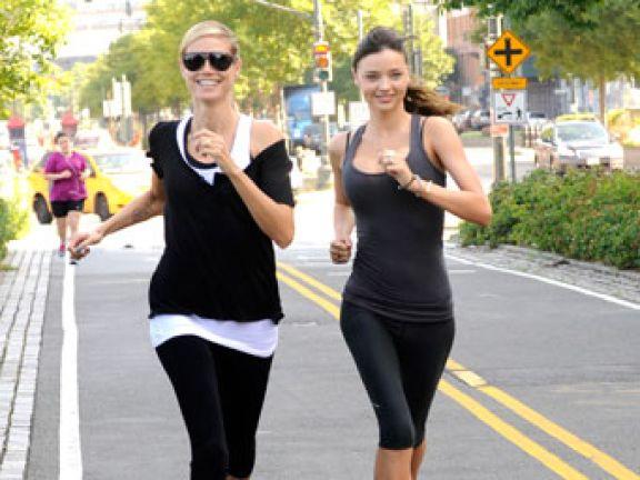 Heidi Klum und Miranda Kerr joggen gerne