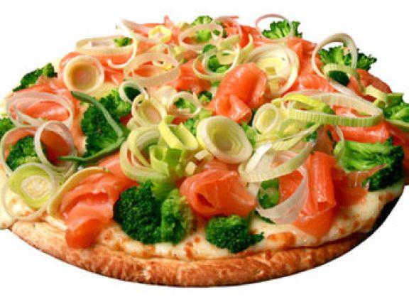 eine gesunde Pizza