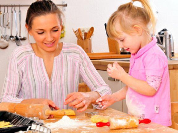 Backen mit Kindern in der Osterbäckerei