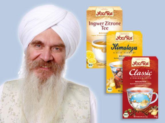 """Yogi-Tee: """"Gesund, lecker und ein wenig göttlich!"""""""