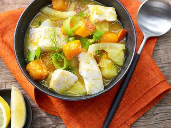 Rezept: Kabeljau-Kürbis-Suppe