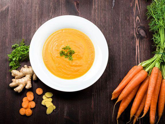 Möhren-Ingwer-Suppe