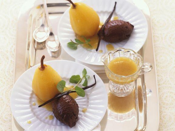 mousse au chocolat mit wei wein birne rezept eat smarter. Black Bedroom Furniture Sets. Home Design Ideas
