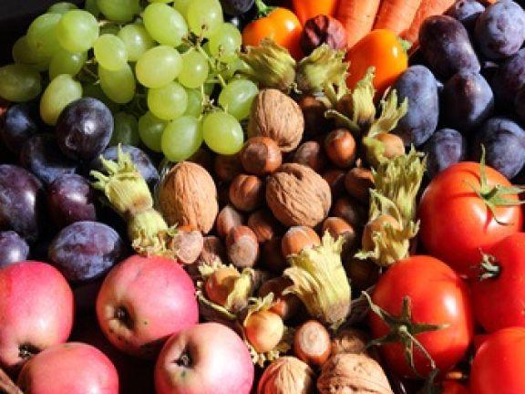 Lecker und wertvoll: Obst und Nüsse.© roostler