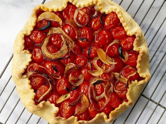 pikante tarte mit tomaten rezept eat smarter. Black Bedroom Furniture Sets. Home Design Ideas