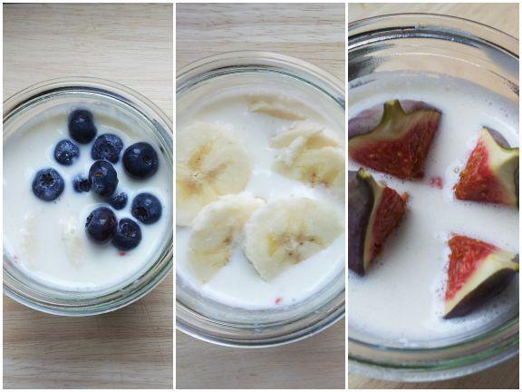 Proats-Variationen mit Zimt, Vanille oder Honig
