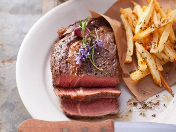 steaks mit pommes frites rezept eat smarter. Black Bedroom Furniture Sets. Home Design Ideas