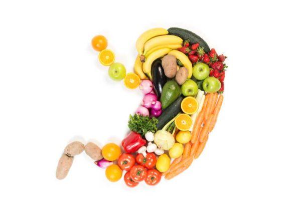 Stoffwechsel: Magen aus Obst und Gemüse