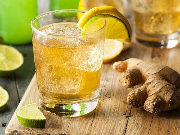 Tea-Cocktails Minze-Ingwer