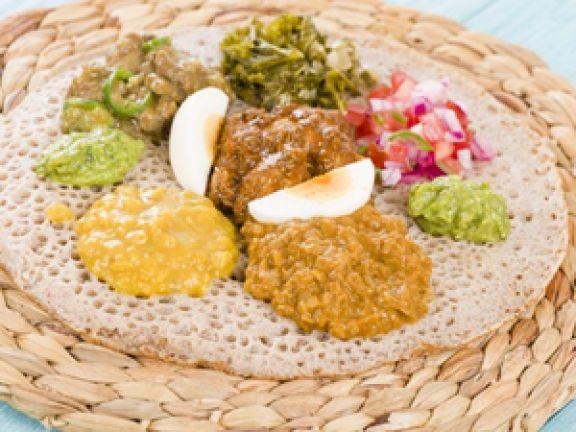 Injera werden aus Teffmehl gemachz