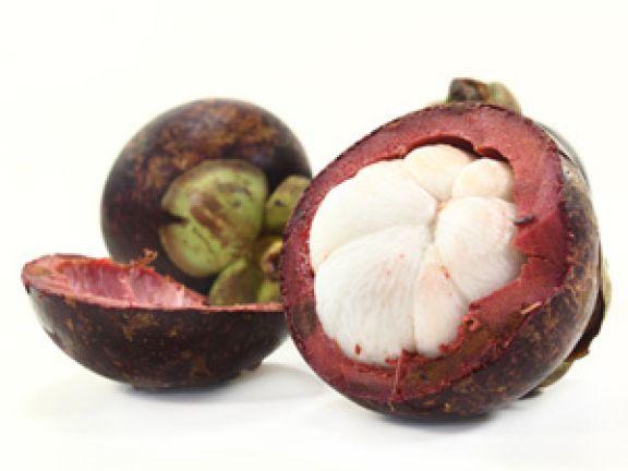 Die Mangostan ist eine tropische Frucht
