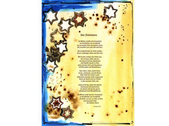 Zimtsterne Gedicht und Rezept