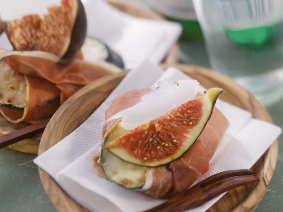 zucchinihappen mit schinken und feige rezept eat smarter. Black Bedroom Furniture Sets. Home Design Ideas