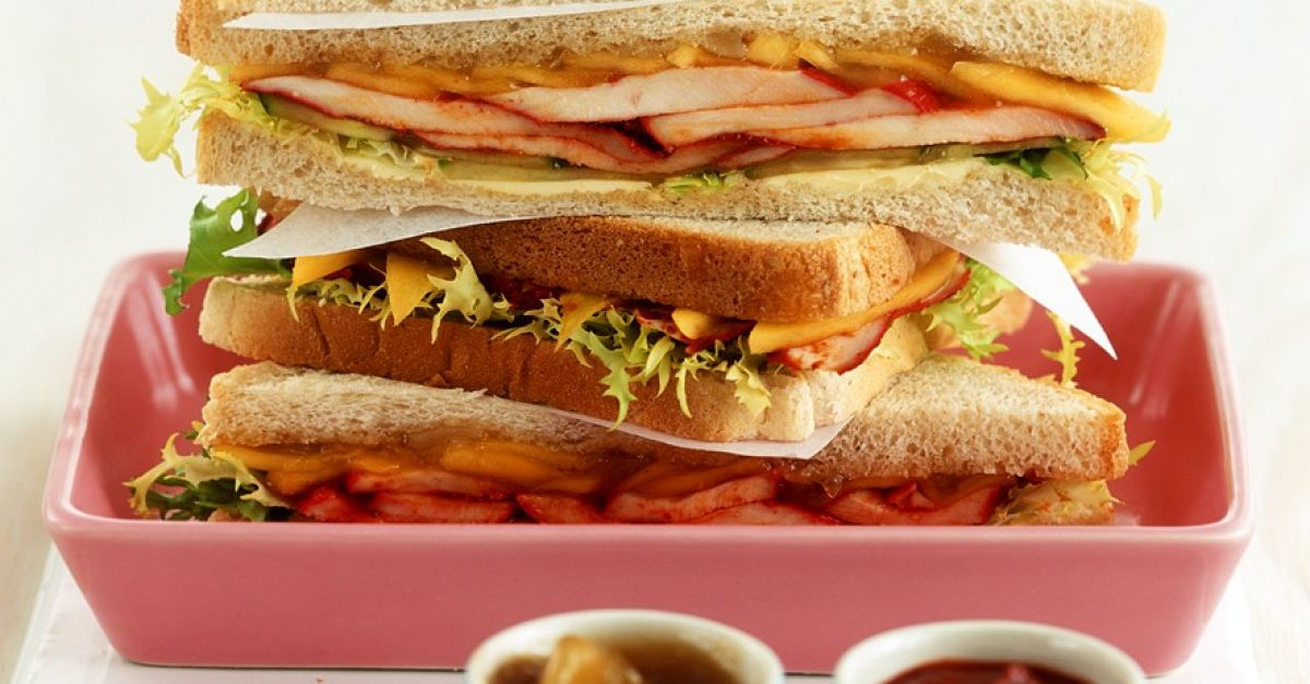 h hnchen sandwiches mit mangochutney rezept eat smarter. Black Bedroom Furniture Sets. Home Design Ideas