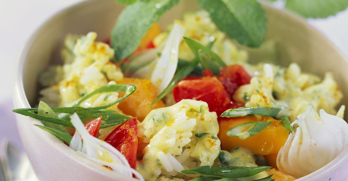 reis mango salat mit tomaten rezept eat smarter. Black Bedroom Furniture Sets. Home Design Ideas